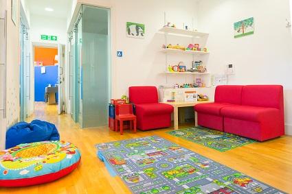 Child lab reception area