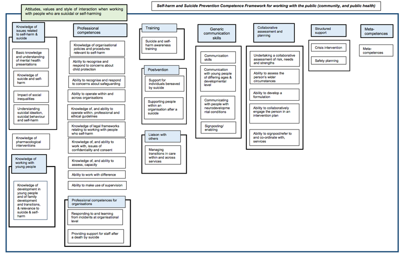 Public health Self Harm Competency Map