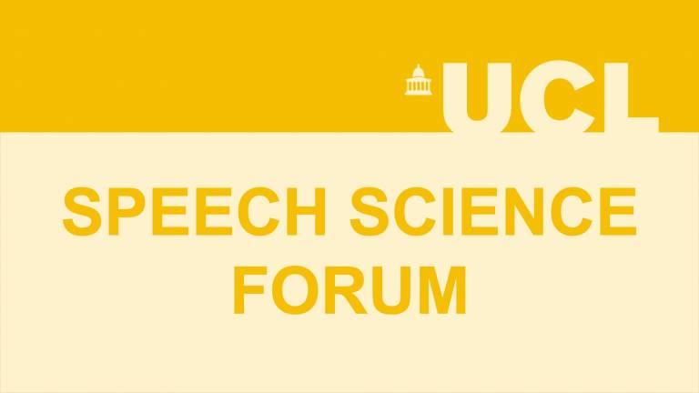 Speech Science Forum Logo