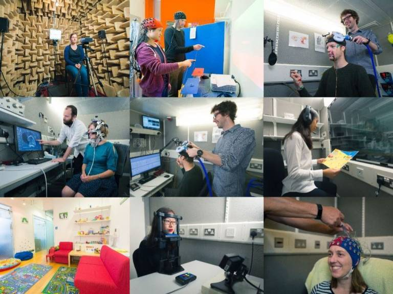research facilities collage