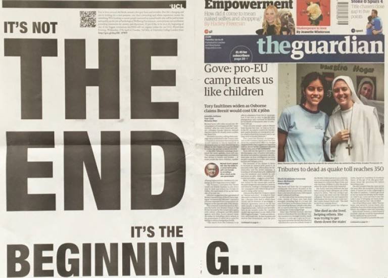Eyes Open Evening - as adverstised in The Guardian, 19 April 2016