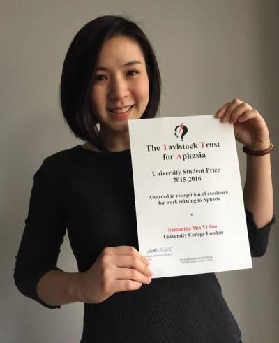 samantha-sim-msc-sls-tavistock-trust-asphasia-university-student-prize-winner-2016