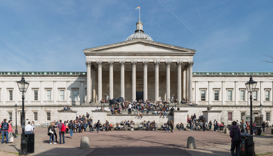UCL Portico and quad sunny day