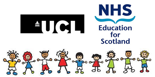 UCL Logo (left) NHS Education for Scotland logo (Right)