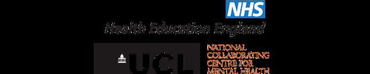 National Heath England Logo on top, UCL logo bottom left, NCCMH Logo bottom right