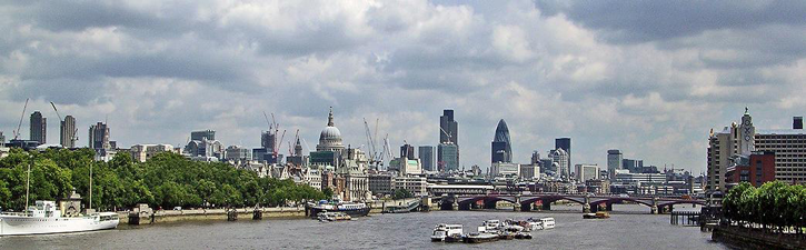 London Panoramic of Financial District