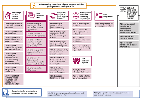 Peer Support Competecy Map - click to access larger version