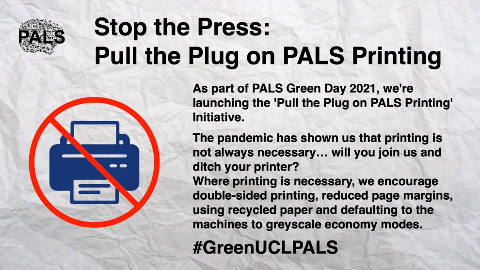 Pull the Plug on PALS Printing