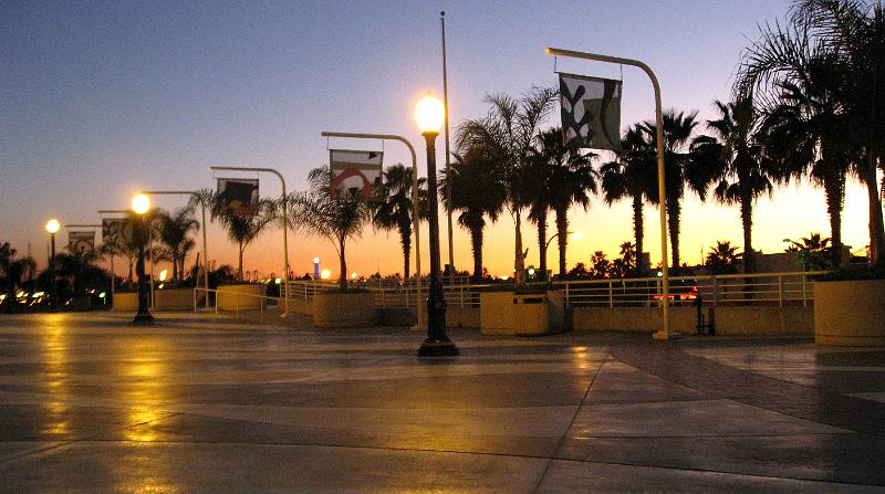 Sunset At Long Beach Convention Center Jpg