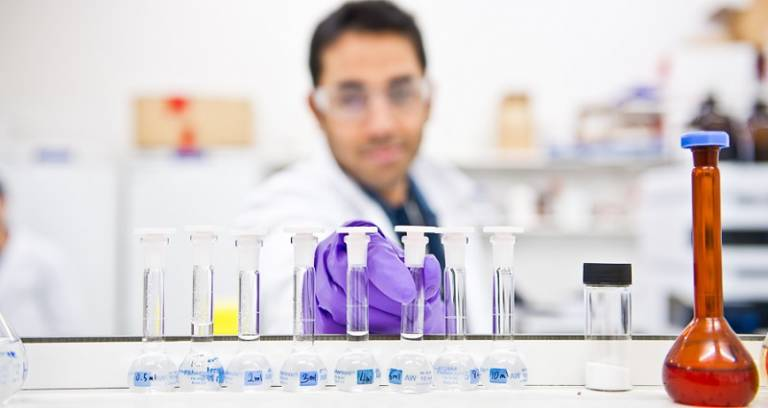 Pharmacy researcher in a laboratory