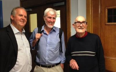 Professor Mike Munday, John O'Keefe and Liam Burke at UCL, 2016