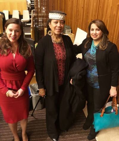 Oksana with Ambassador Attallah Shabazz and another delegate