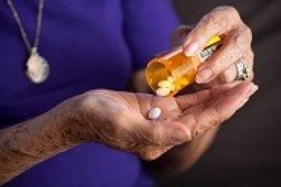 Elderly patient taking medications