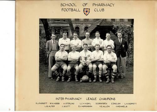 School of Pharmacy Football Team 1936-7