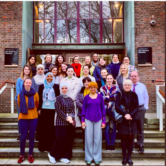 UCL School of Pharmacy staff and students gathering for International Women's Day