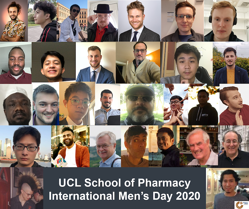 School of Pharmacy staff and students meeting for International Men's Day