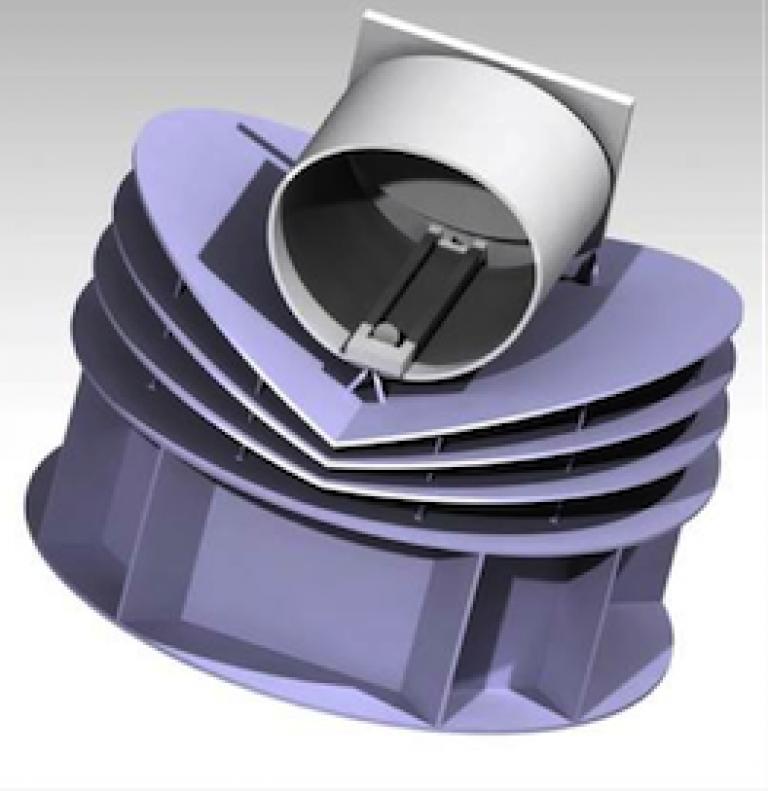 Concept view of the ARIEL spacecraft. Credit: ESA