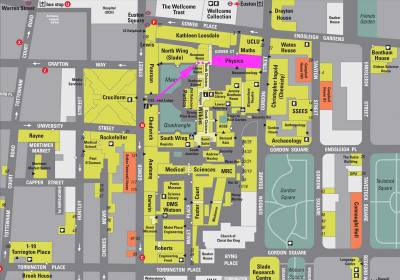 Map, Physics Department, UCL