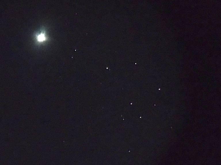 Venus and Pleiades 2