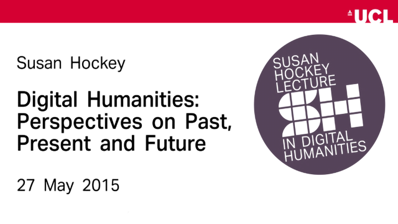 2015 Susan Hockey Lecture