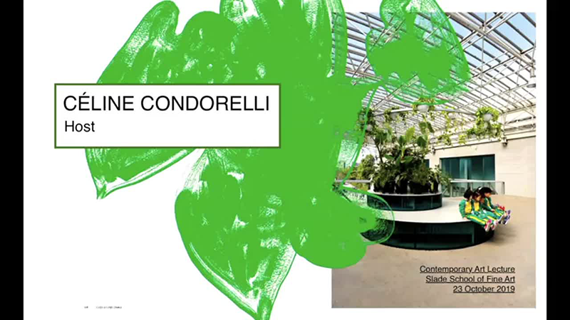 Slade Contemporary Art Lectures: CÉLINE CONDORELLI