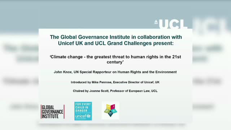 Climate change – the greatest threat to human rights in the 21st century
