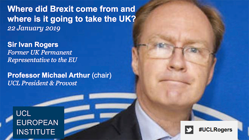 Sir Ivan Rogers: Where did Brexit come from and where is it going to take the UK?