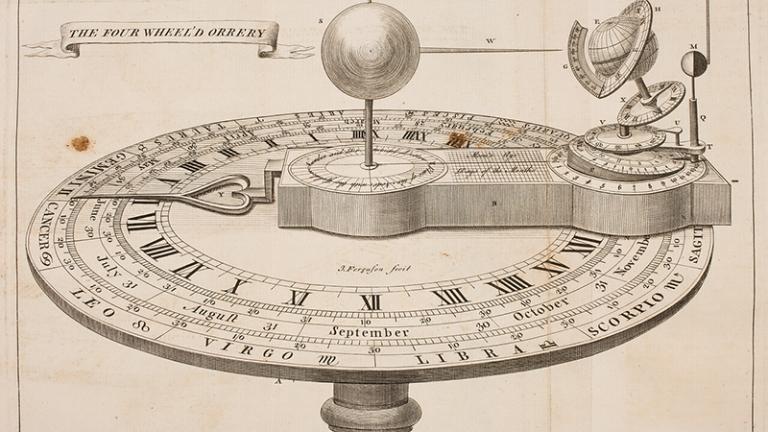 Orrery Scientific Clock Mechanism