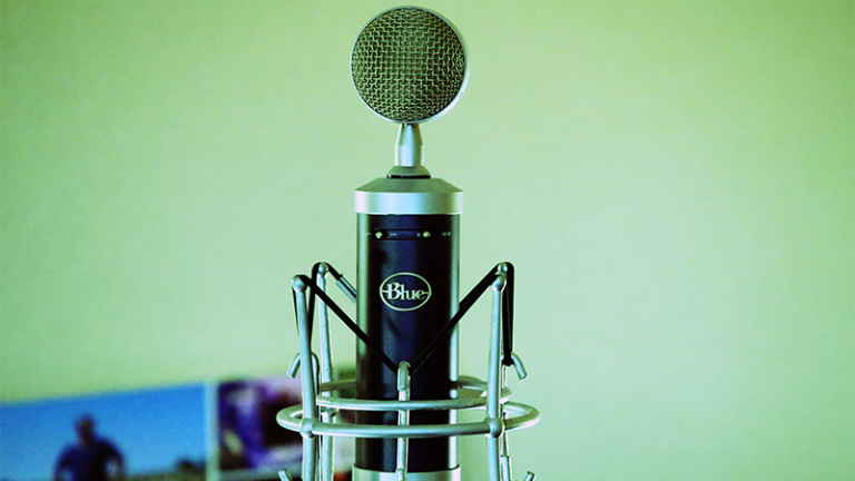 Vintage Radio Style Microphone