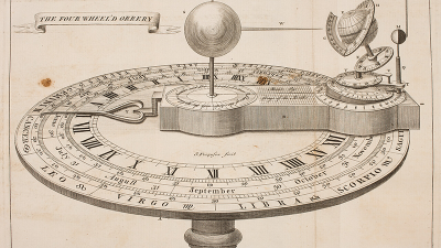 Orrery Scientific Clock Mechanism