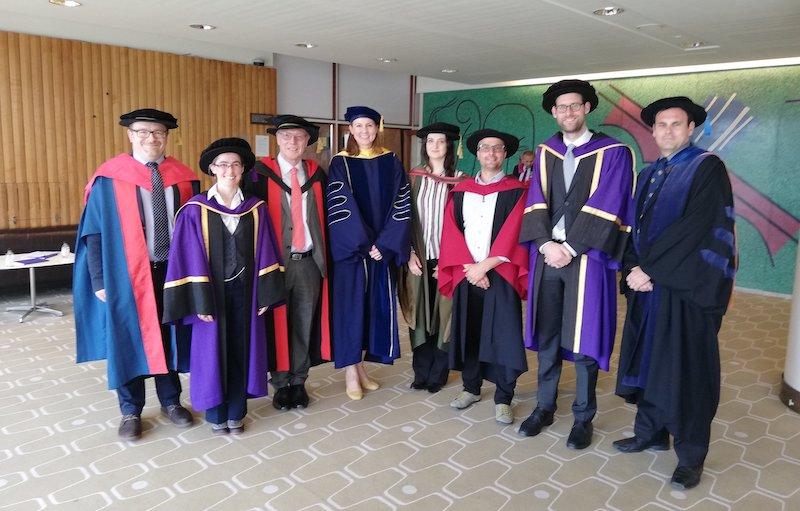 Academics in robes