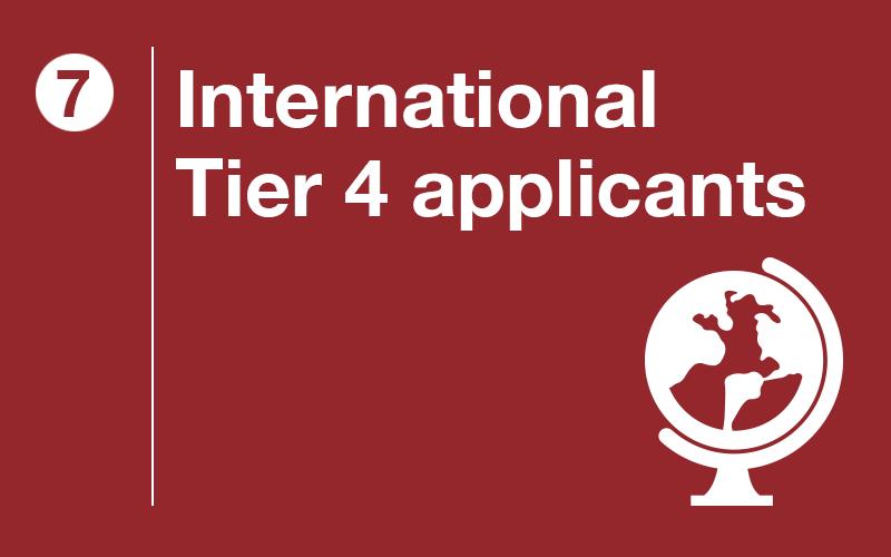 International Tier 4 Applicaants
