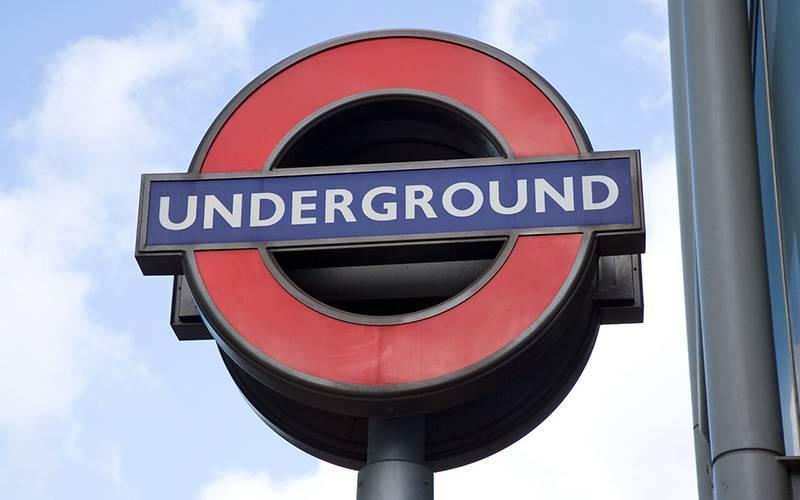 London Underground sign.