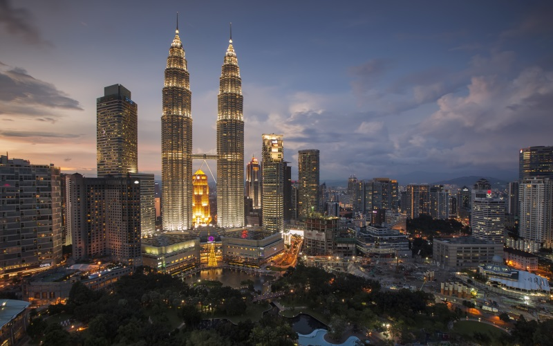 night view of Kuala Lumpar skyline
