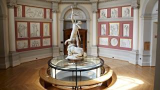 Inside the Flaxman gallery, UCL