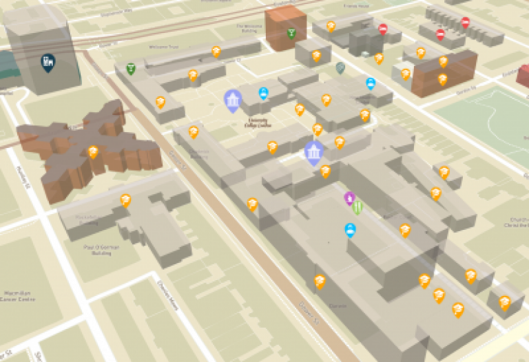 3d map campus ucl