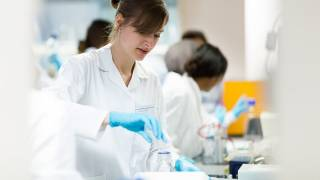 Image of lab technicians working in a laboratory