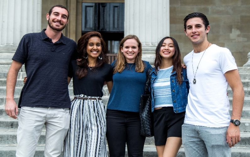 UCL group of students