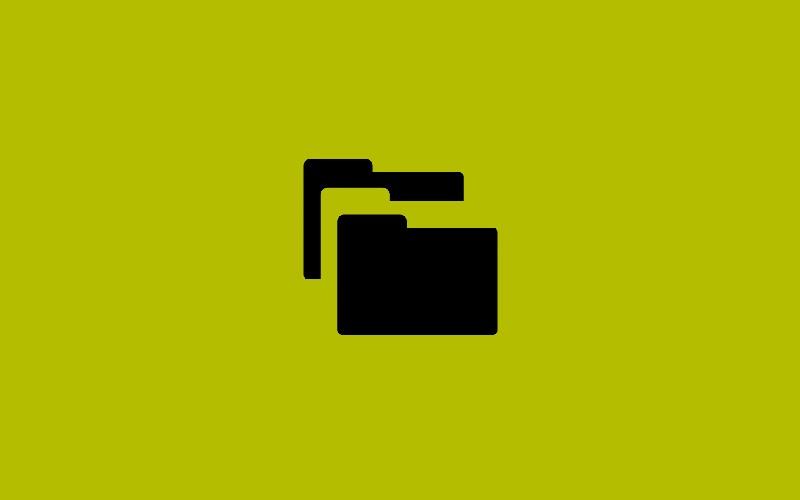 Folder icon on green background.