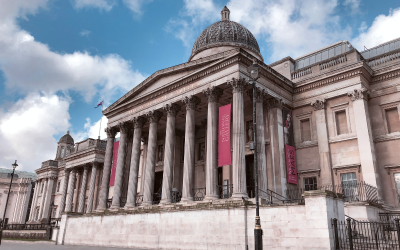 Front entrance of the British Museum.