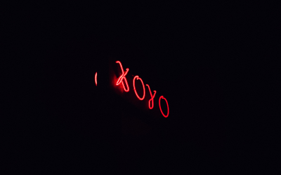Red neon sign of XOYO in Shoreditch.