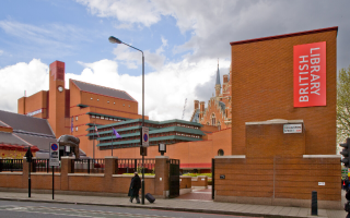 Panorama of the British Library.