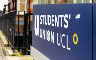 Entrance sign to the UCL student union.
