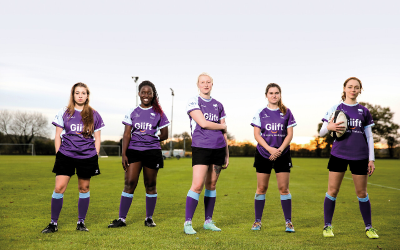 Members of the UCL Women's Rugby team.