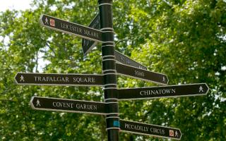 Green London street sign.