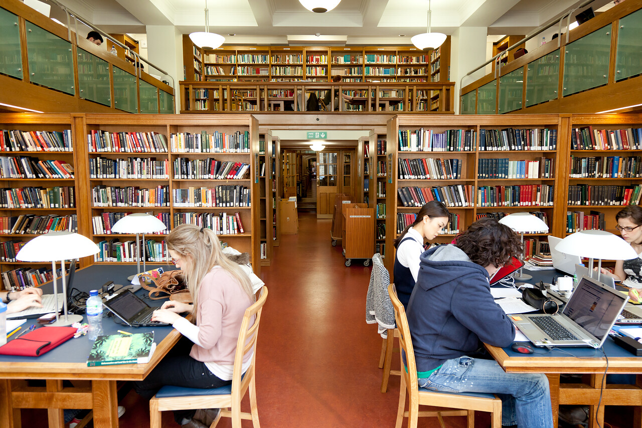 Students studying in Main Library