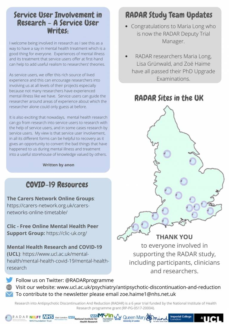 RADAR Newsletter Page 2