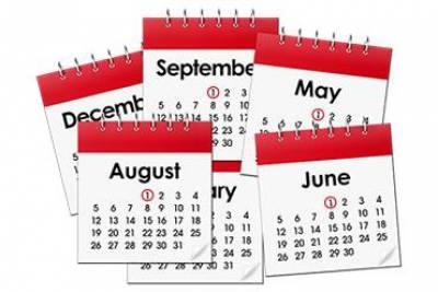 Easy read calendar image