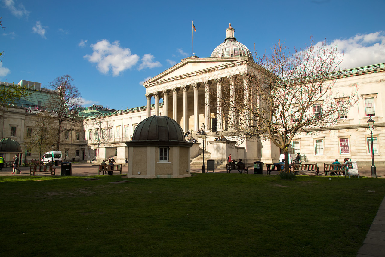 ucl portico and wilkins building green