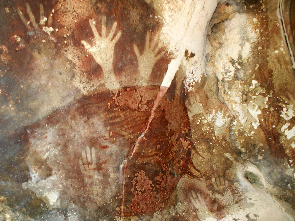 cave painting of hands